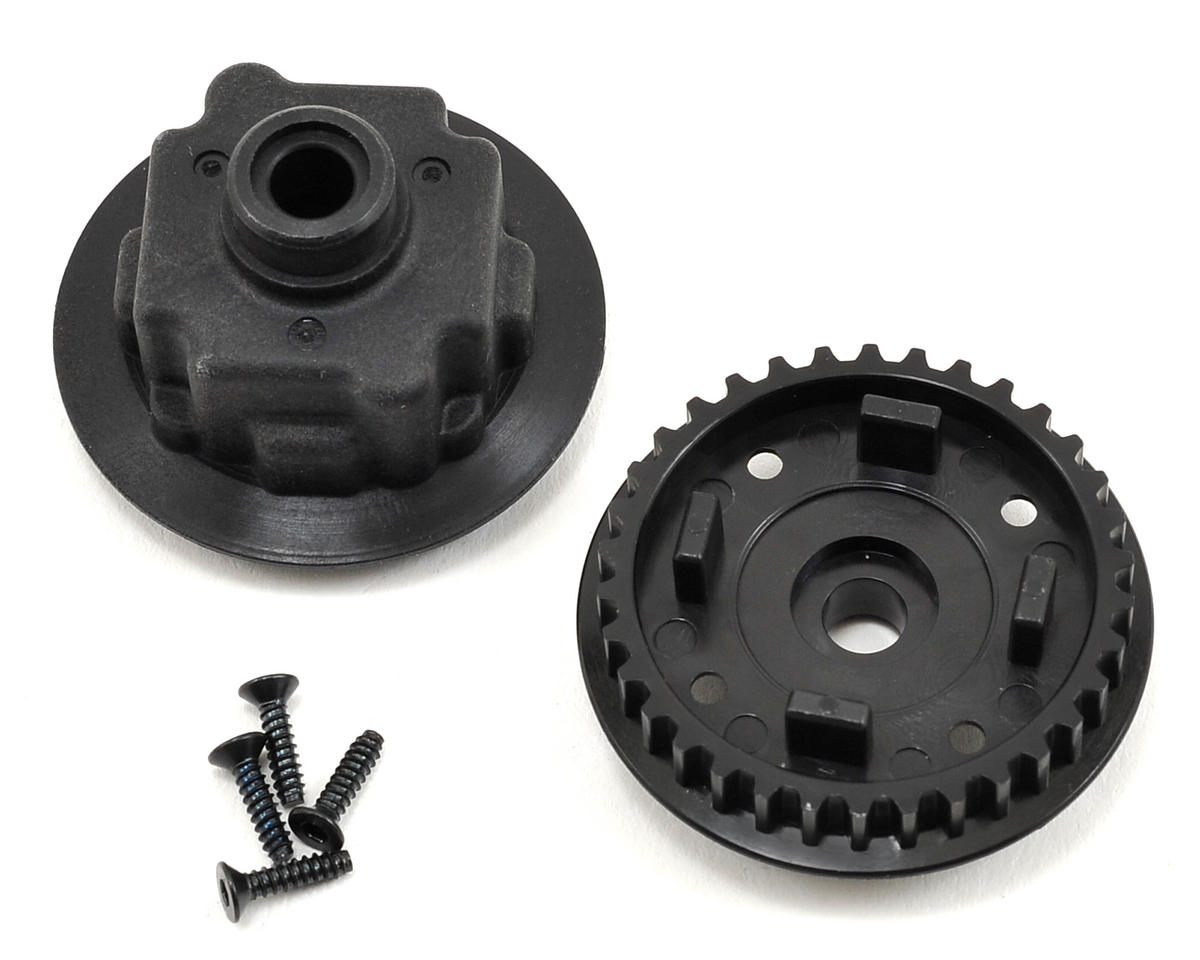 Yokomo Gear Differential Pully/Differential Case Set (34T)