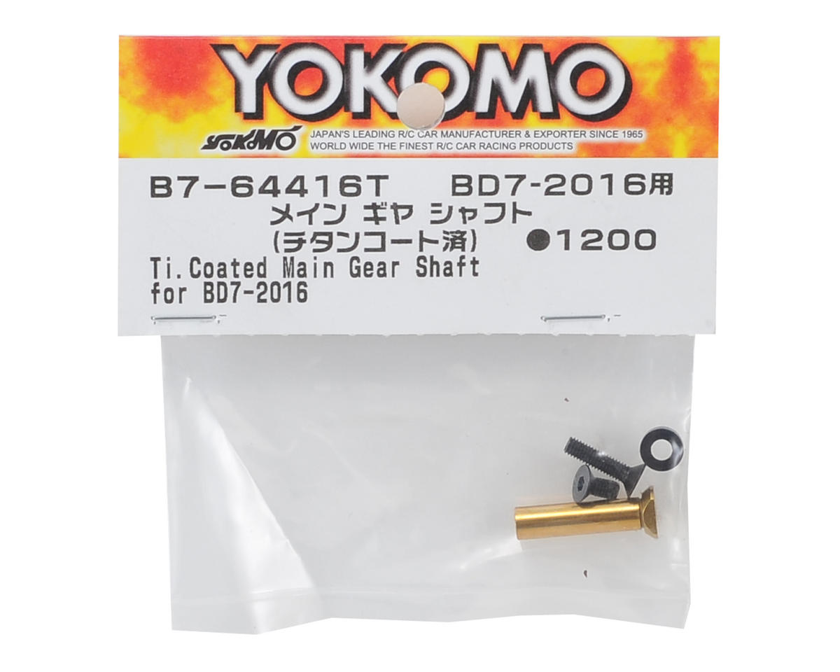 2016 Titanium Coated Main Gear Shaft by Yokomo