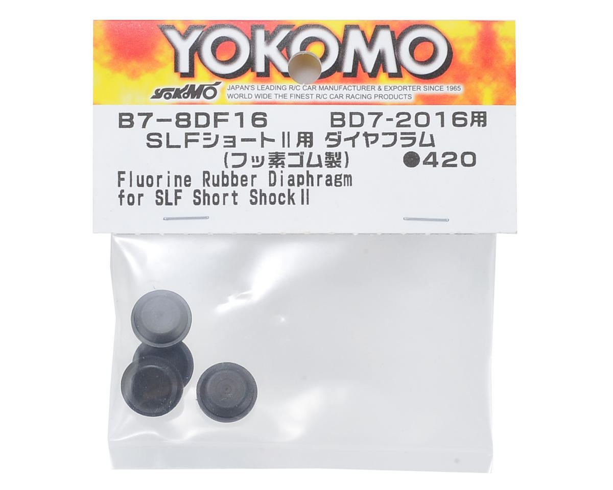 Yokomo Fluorine Rubber Hyper Diaphragm (4) (for SLF Short Shock II)