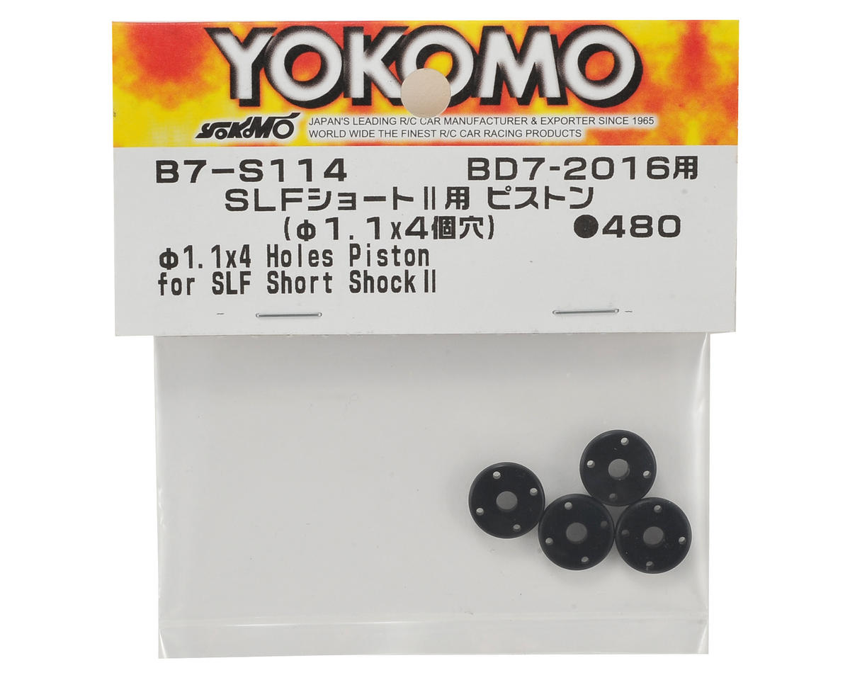 Yokomo Shock Piston (4) (for SLF Short Shock II) (1.1mm x 4 Hole)