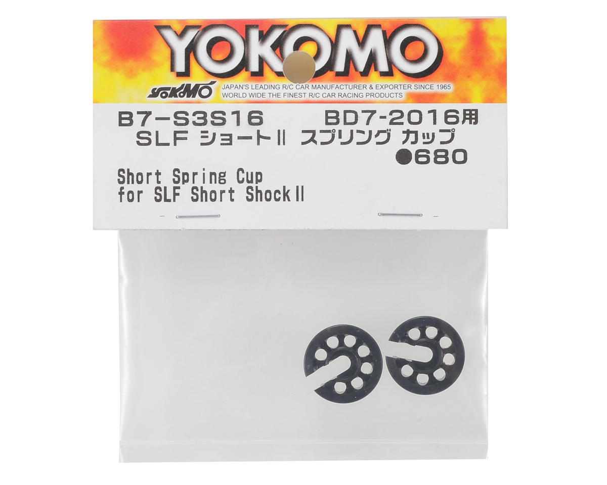 Yokomo SLF Short Shock II Spring Cup (Black)
