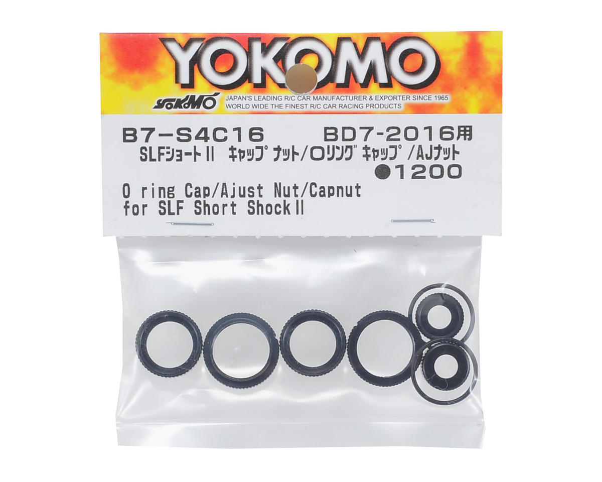 Yokomo O-Ring, Cap, Adjust Nut & Shock Cap Nut Set (for SLF Short Shock II)