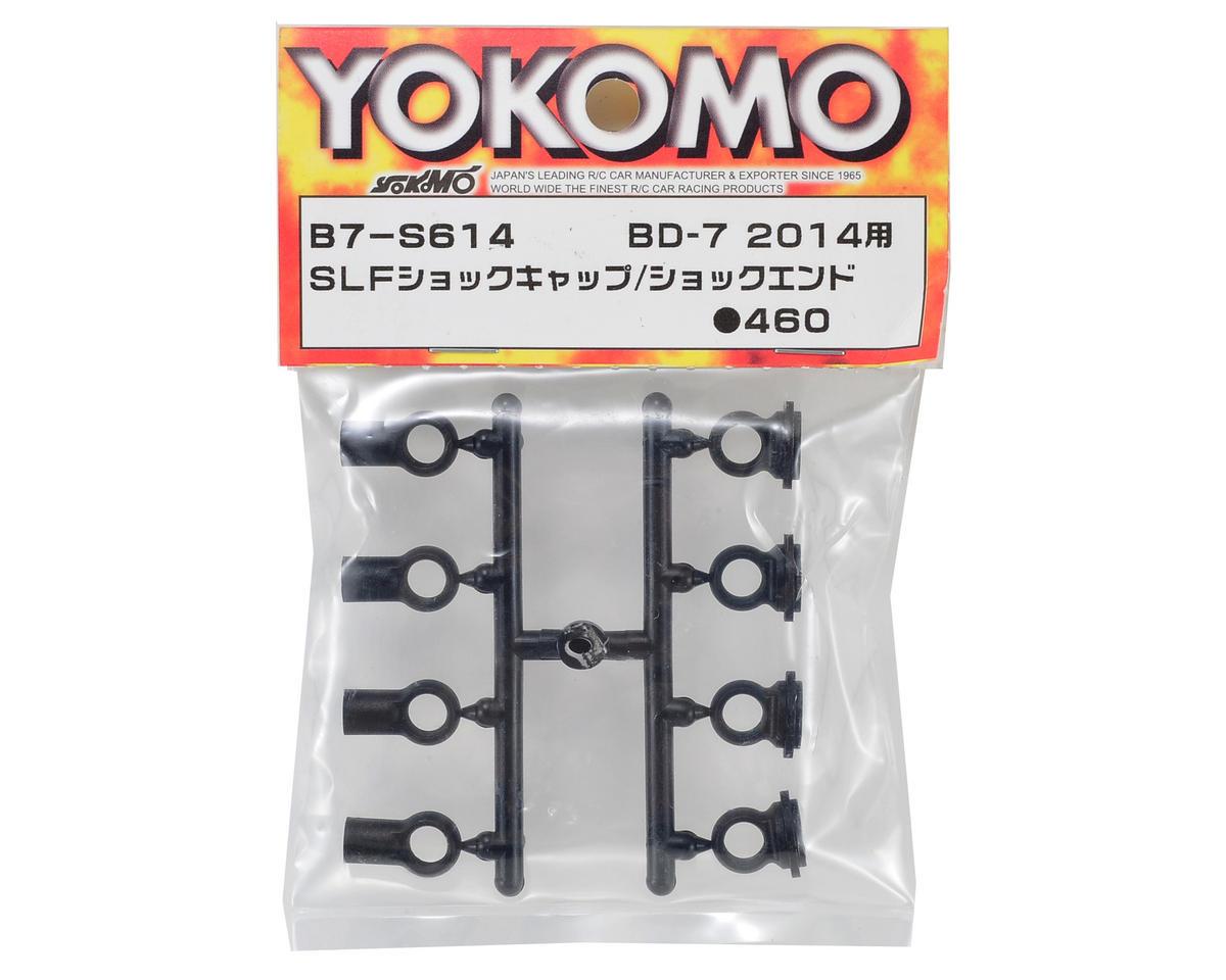 Yokomo SLF Plastic Shock Cap & Shock End Set (4)