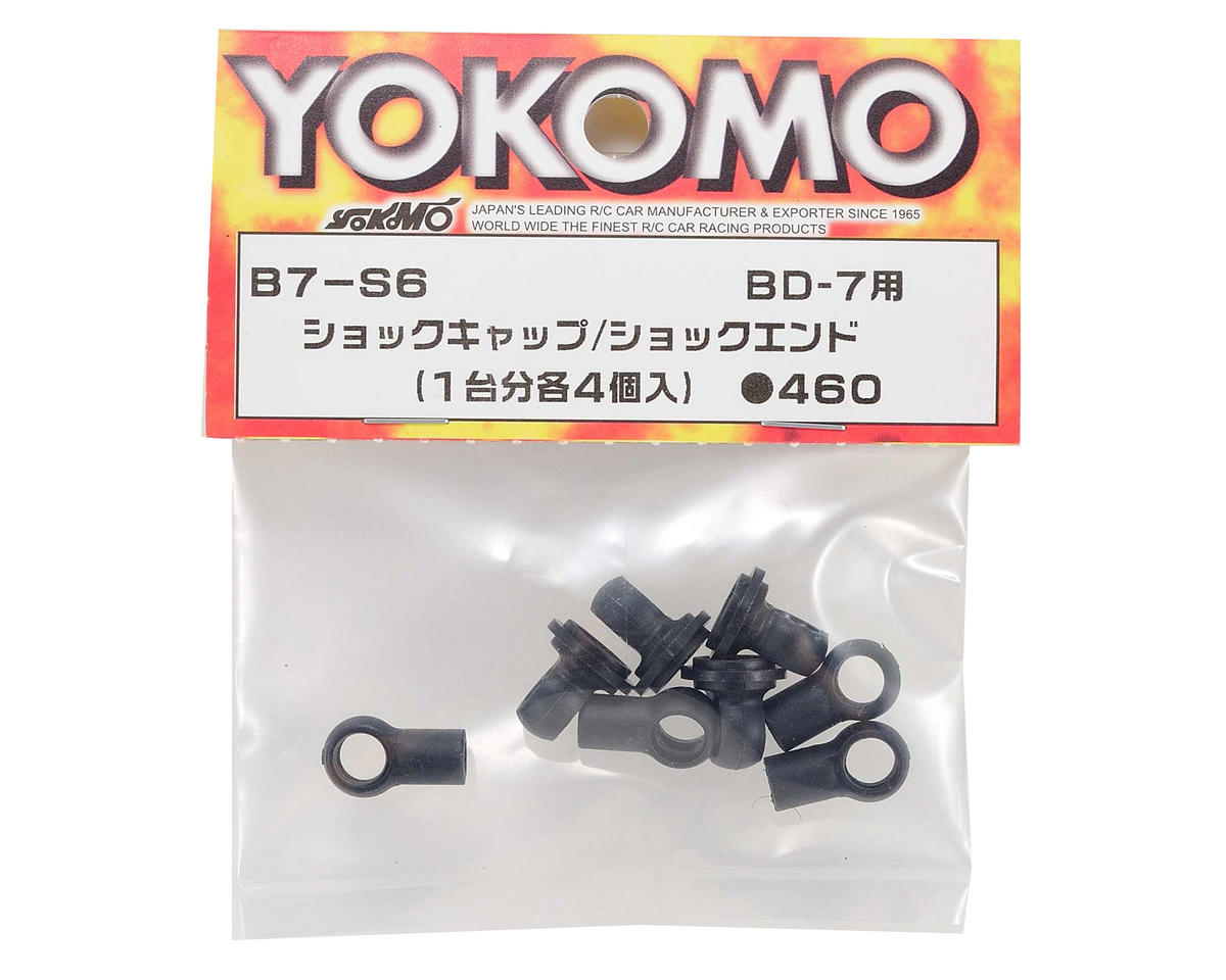 Yokomo Plastic Shock Cap & Shock End Set (4)