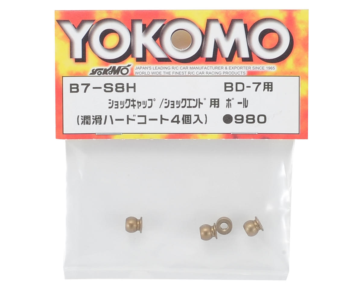 Yokomo Aluminum Lubricating Hard Coat Pivot Ball (4) (For Shock Mounts)