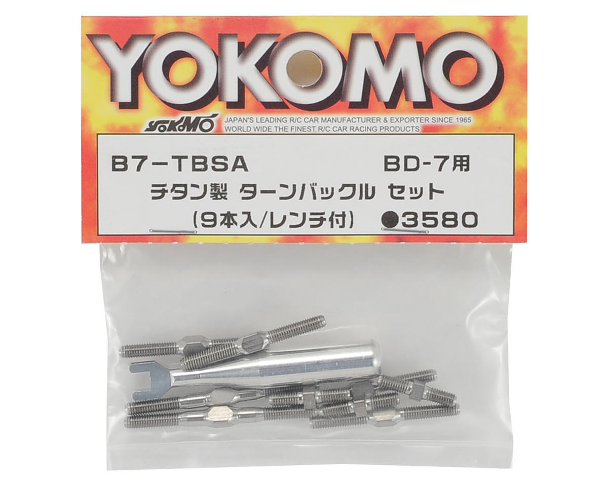 Yokomo BD7 Titanium Turnbuckle Set (9)