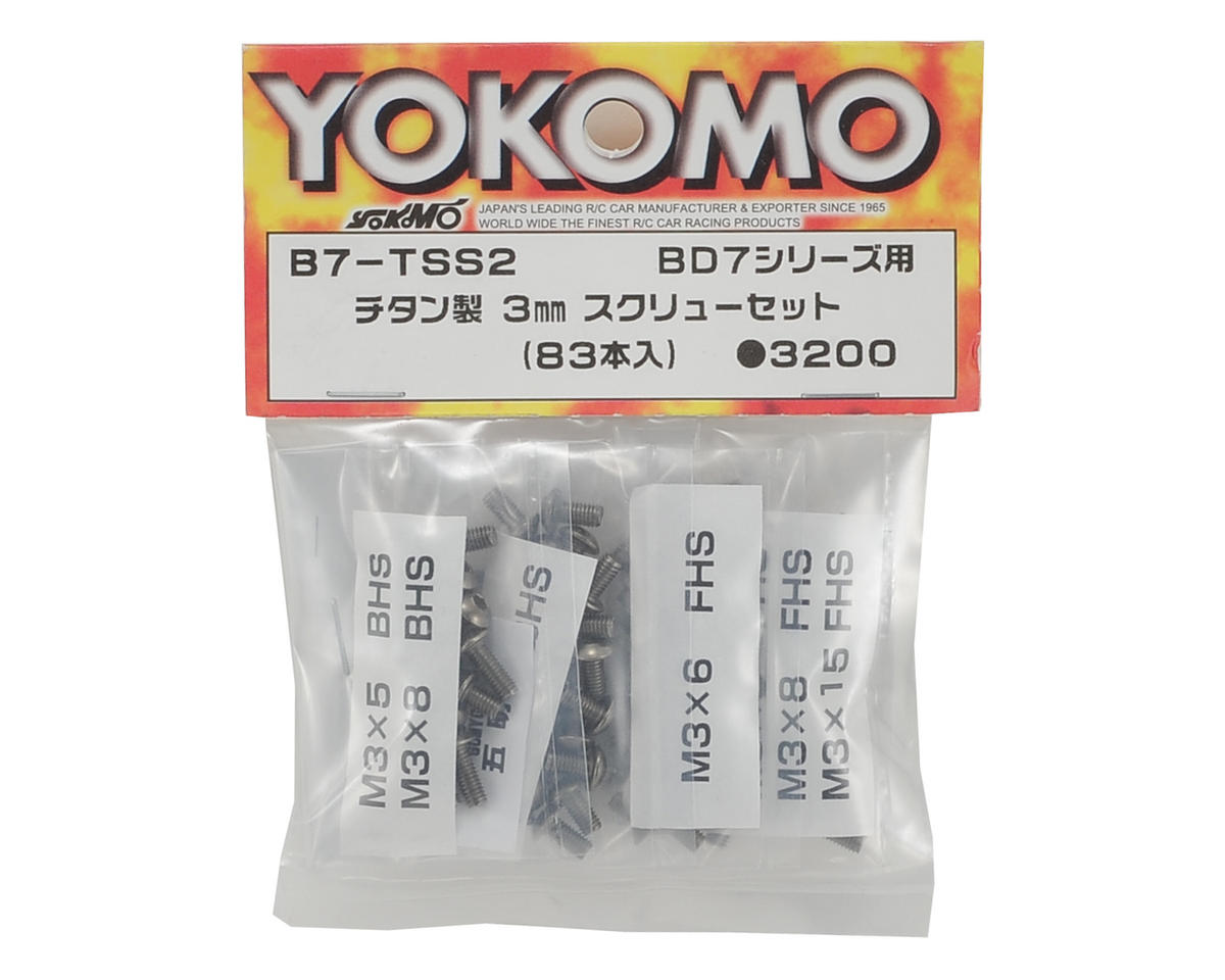 BD7 Titanium Screw Set (83) by Yokomo