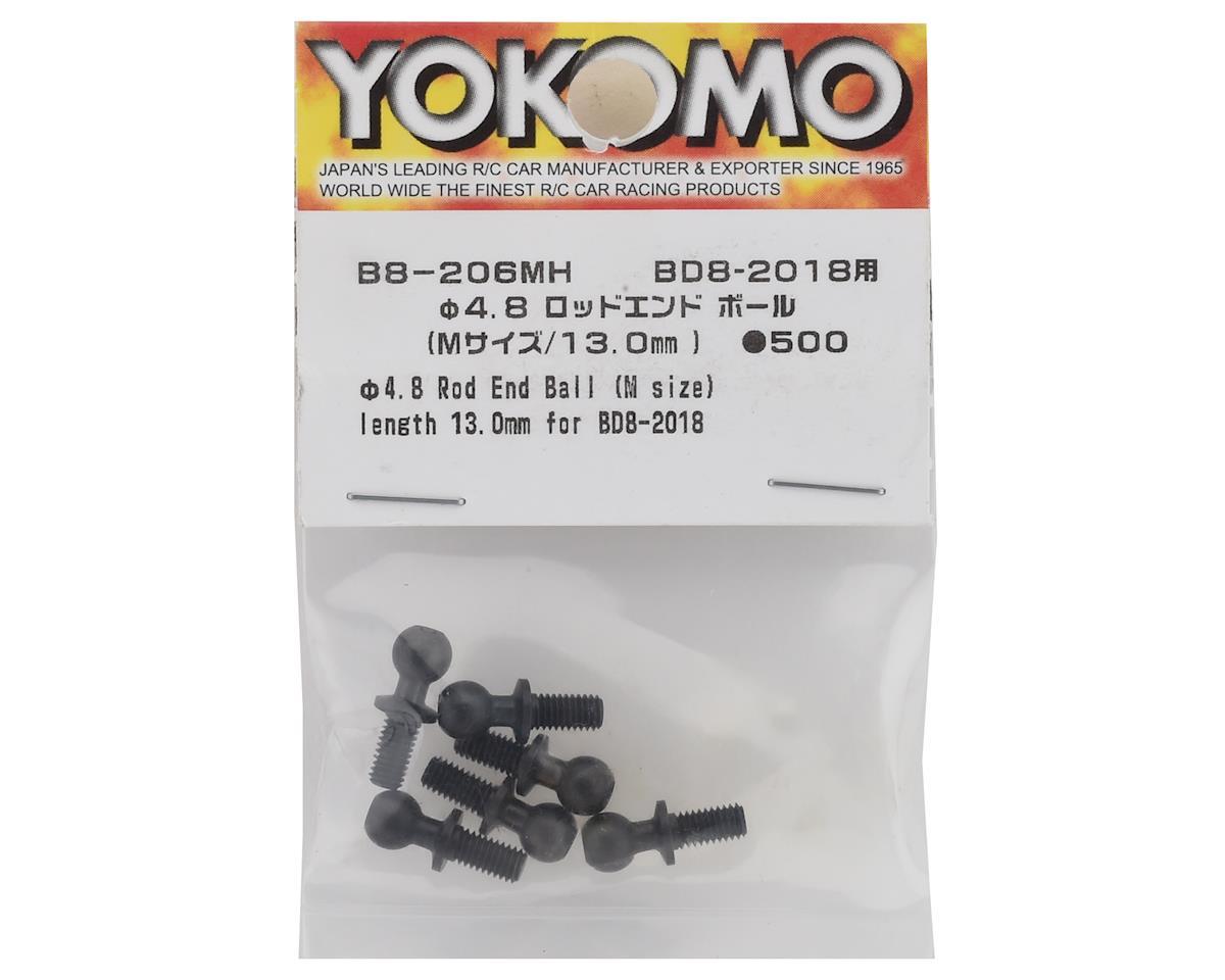 Yokomo BD8 2018/2019 Rod End Ball Set (6) (4.6mm/13mm)