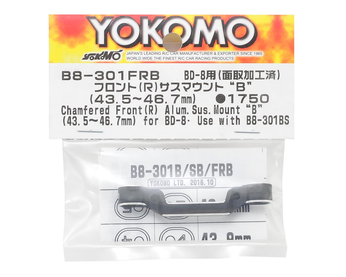"Yokomo Aluminum Front-Rear Suspension Mount ""B"" (43.5-46.7mm)"
