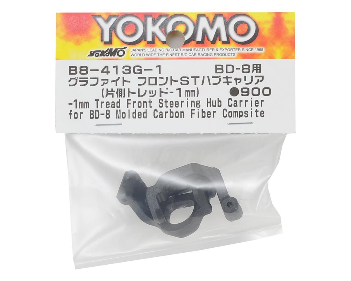 Yokomo Carbon Front Steering Hub Carrier Set (4°) (-1mm Tread)