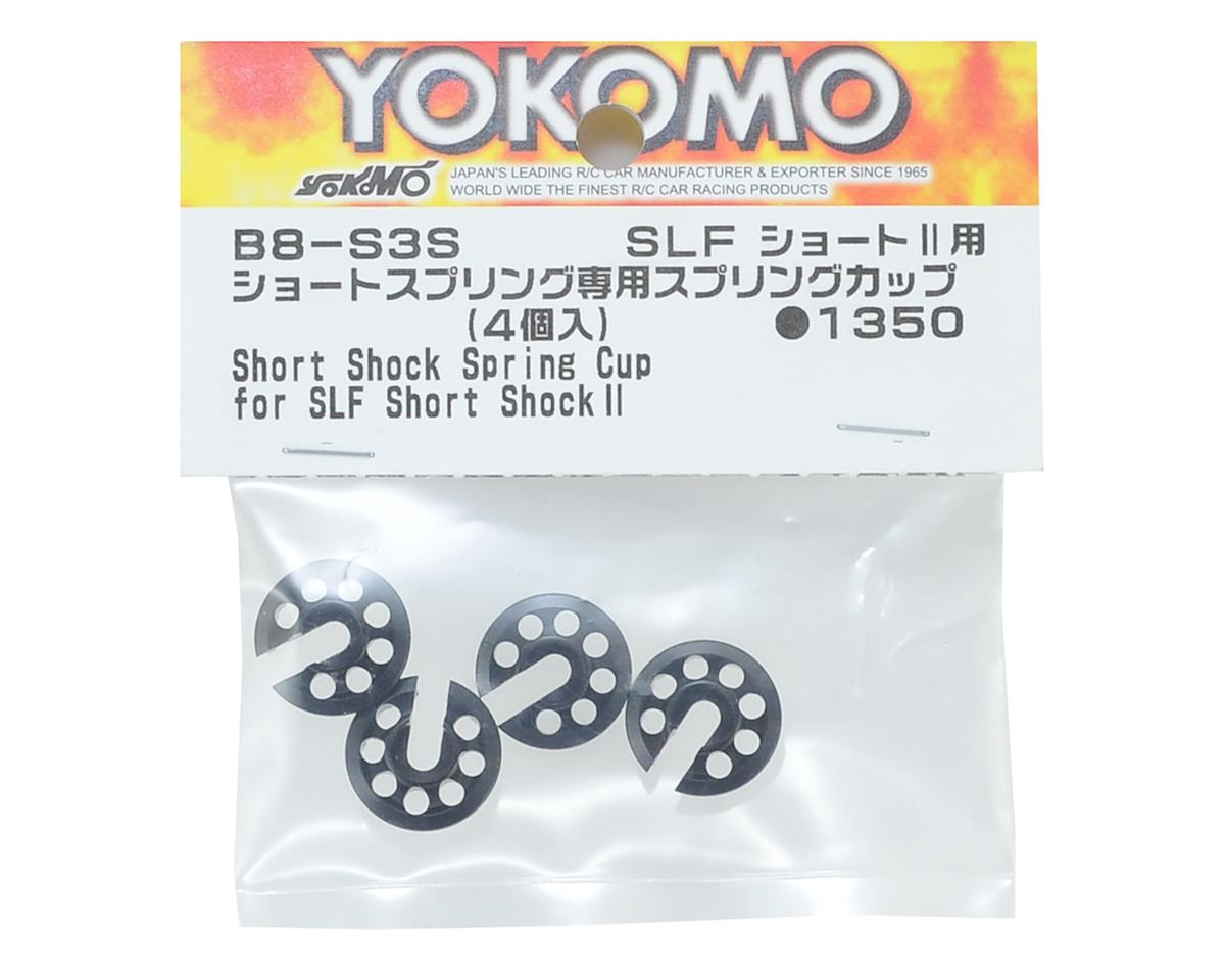 Yokomo Aluminum BD8 Short Spring Cup (4) (SLF Short Shock II)