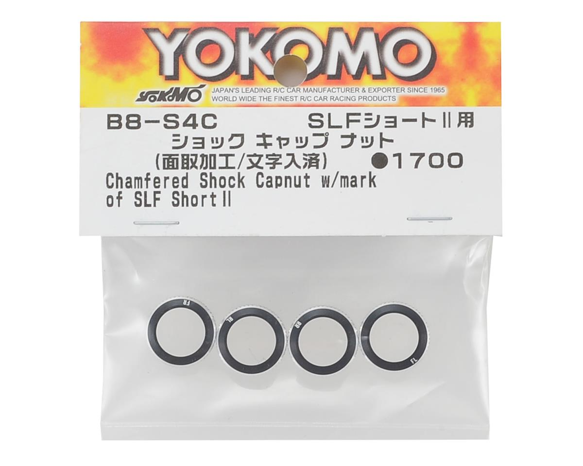 Yokomo SLF Shock Cap Nut w/Engraved Mark Beveling