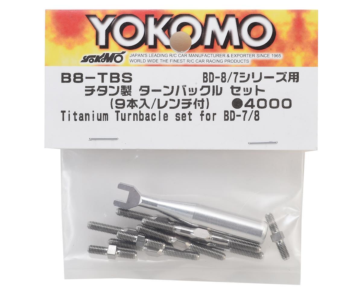 Yokomo BD8 Titanium Turnbuckle Set (9)
