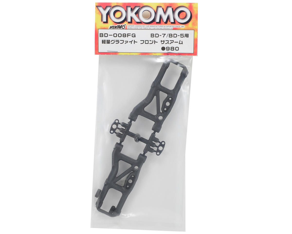 Yokomo Lightweight Graphite Front Suspension Arm Set