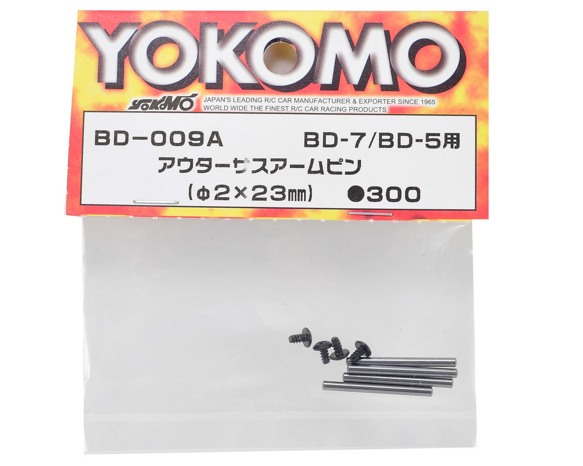 Yokomo 2x23mm Outer Suspension Arm Pin Set (4)