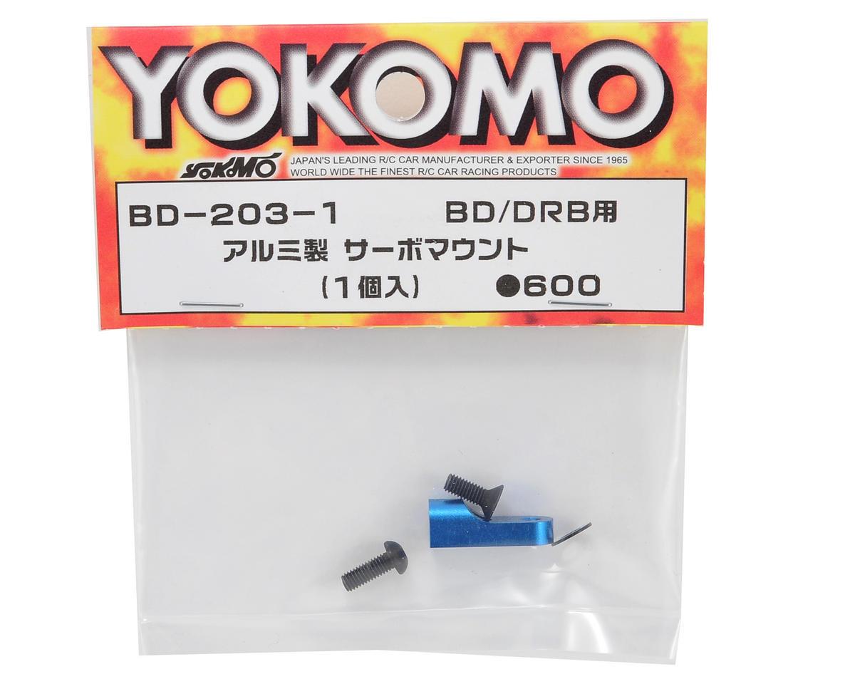 Yokomo Aluminum Servo Mount (Blue) (1)