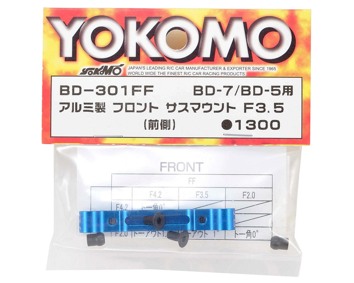 Yokomo Aluminum Front-Front Suspension Mount (43.5mm)