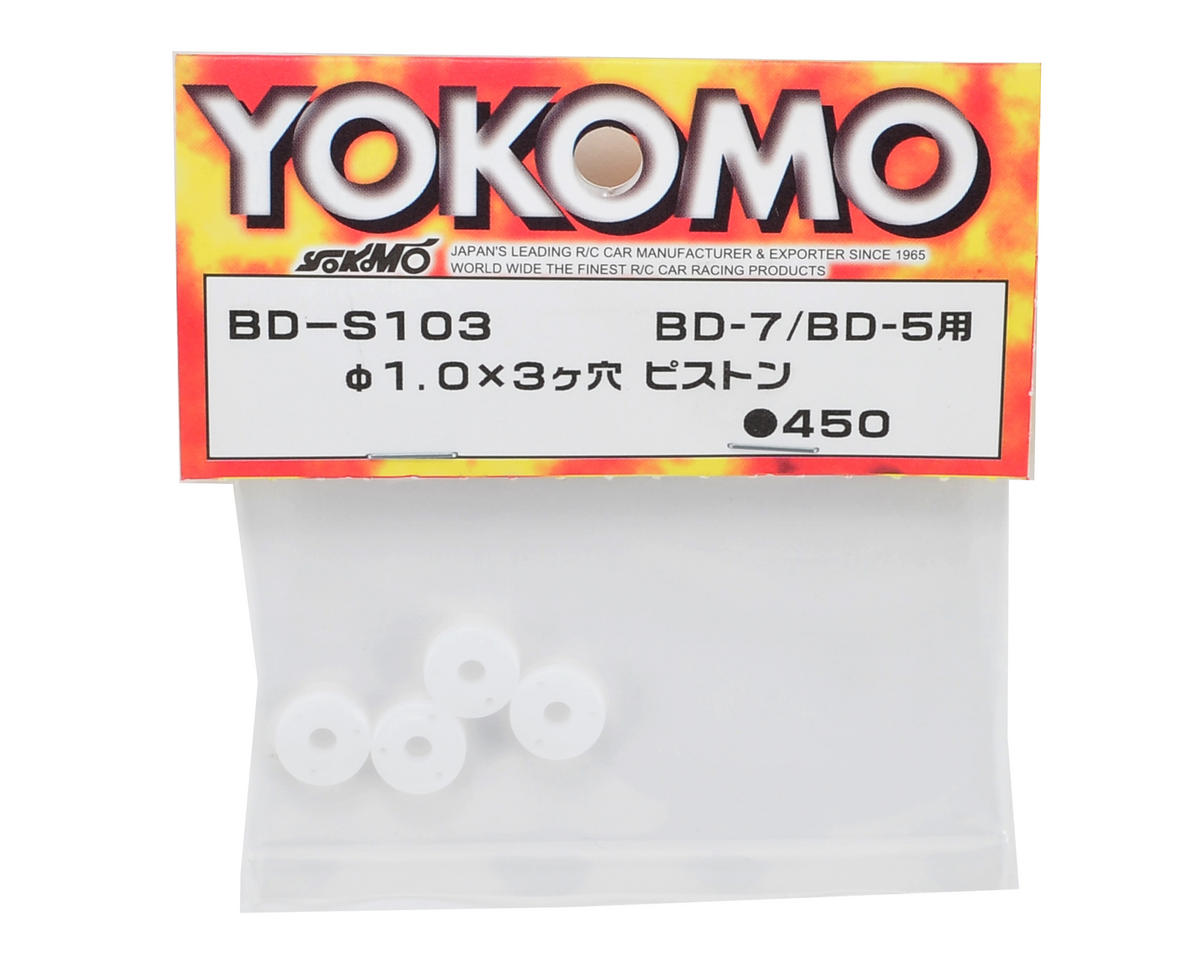 Yokomo 1.0x1.0mm Three Hole Shock Piston (4)