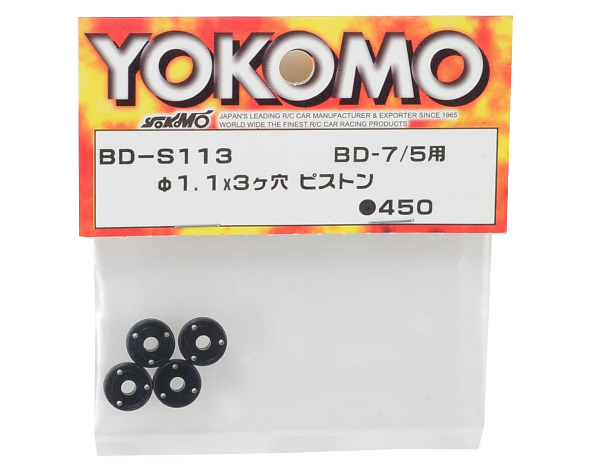 Yokomo 1.1x3 Three Hole Shock Piston (4)