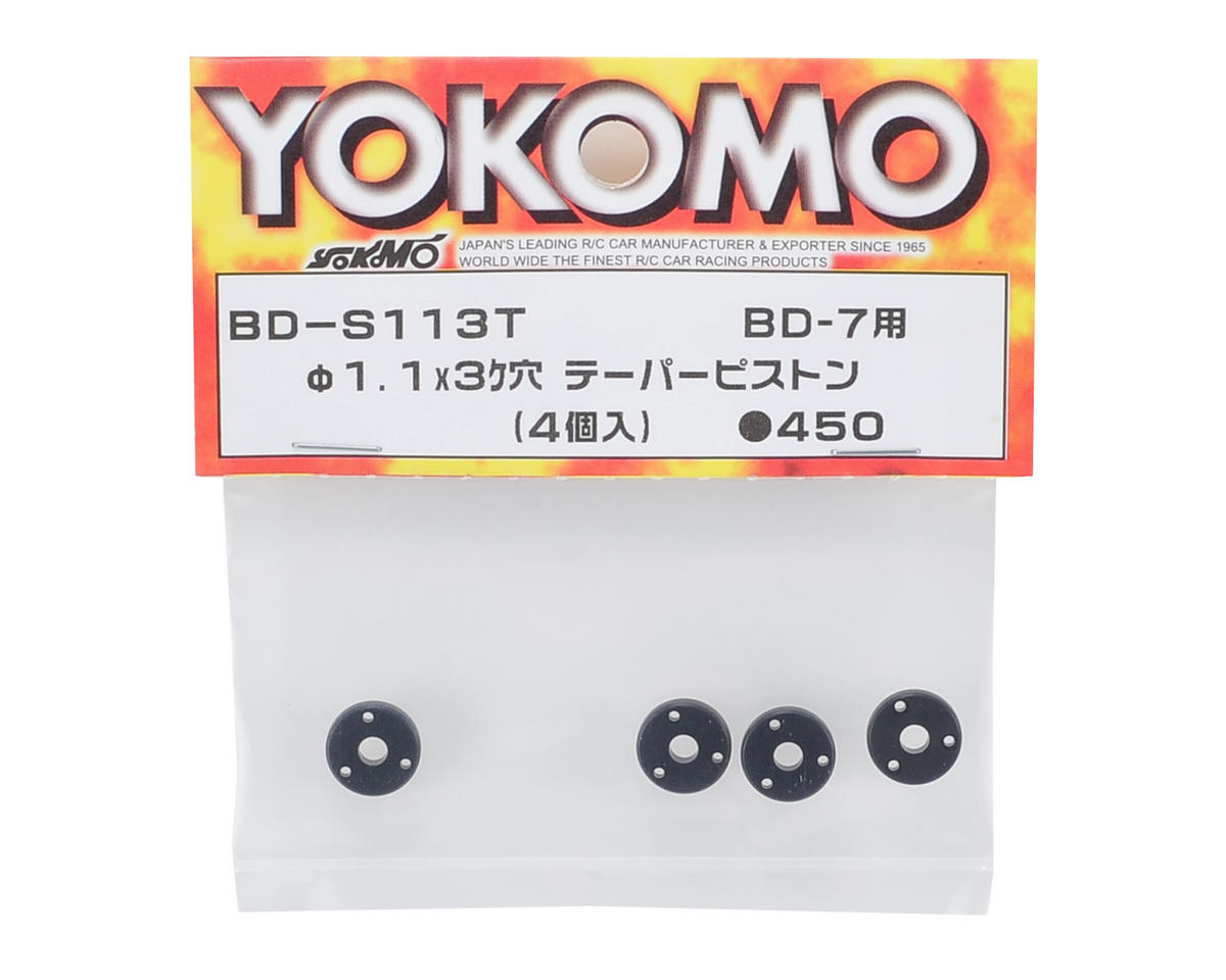 Yokomo Taper Piston (4) (for SLF Normal Shock) (1.1mm x 3 Hole)