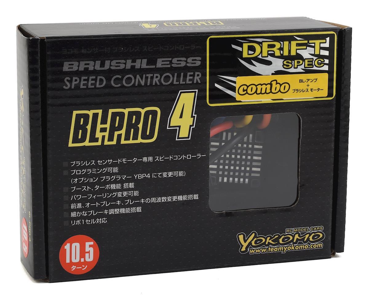 Yokomo Drift Spec BL-PRO4 Brushless ESC/Motor Combo Set (10.5T)