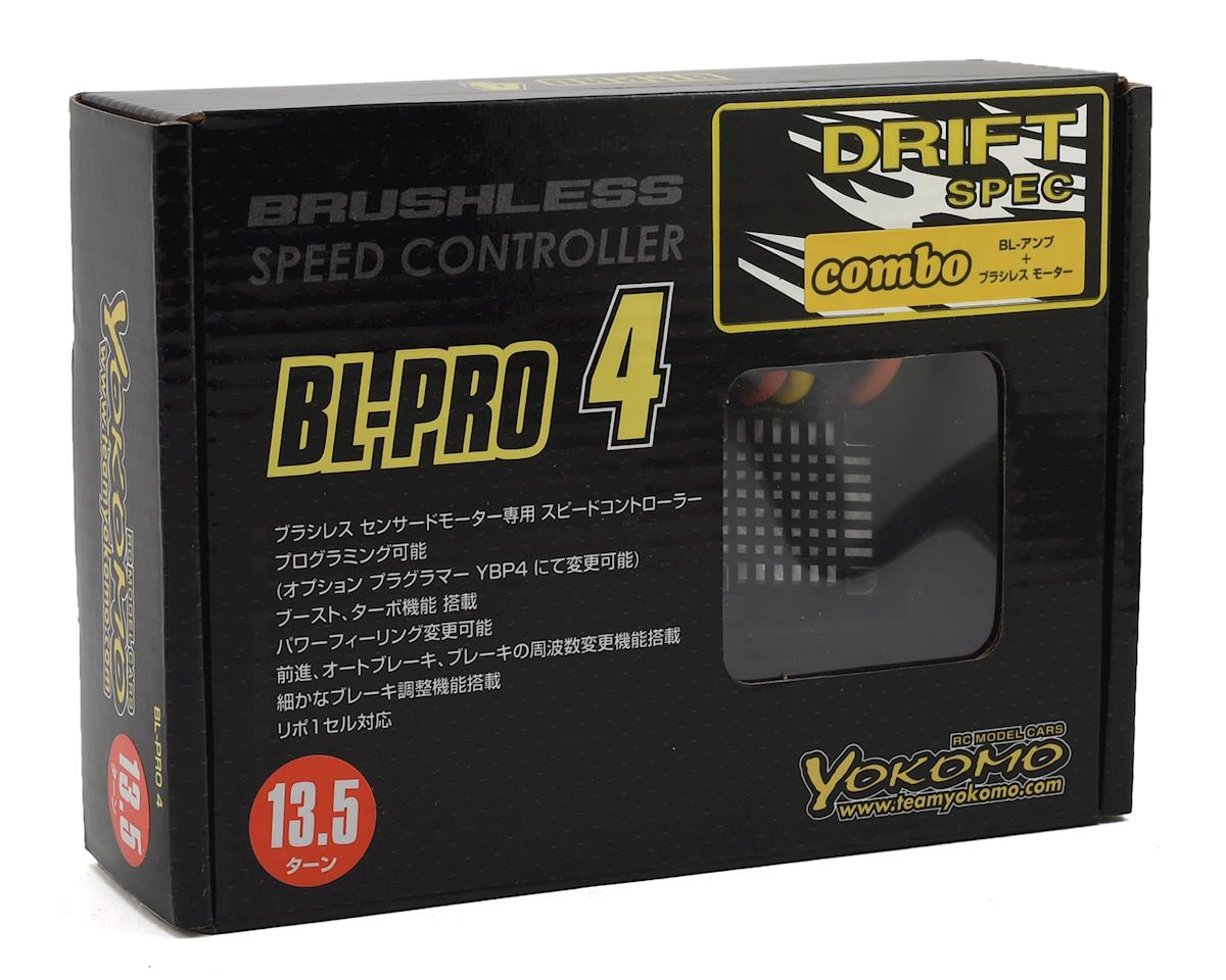 Yokomo Drift Spec BL-PRO4 Brushless ESC/Motor Combo Set (13.5T)