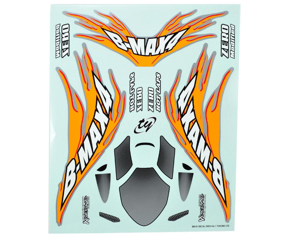 Yokomo B-MAX4 Decal Sheet