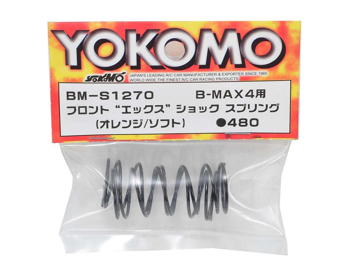 "Yokomo Front ""X"" Shock Spring Set (Orange/Soft)"
