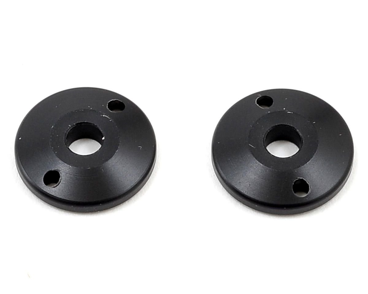 """X"" Shock Tapered Piston (Black) (2) (2 Hole/1.5mm) by Yokomo"