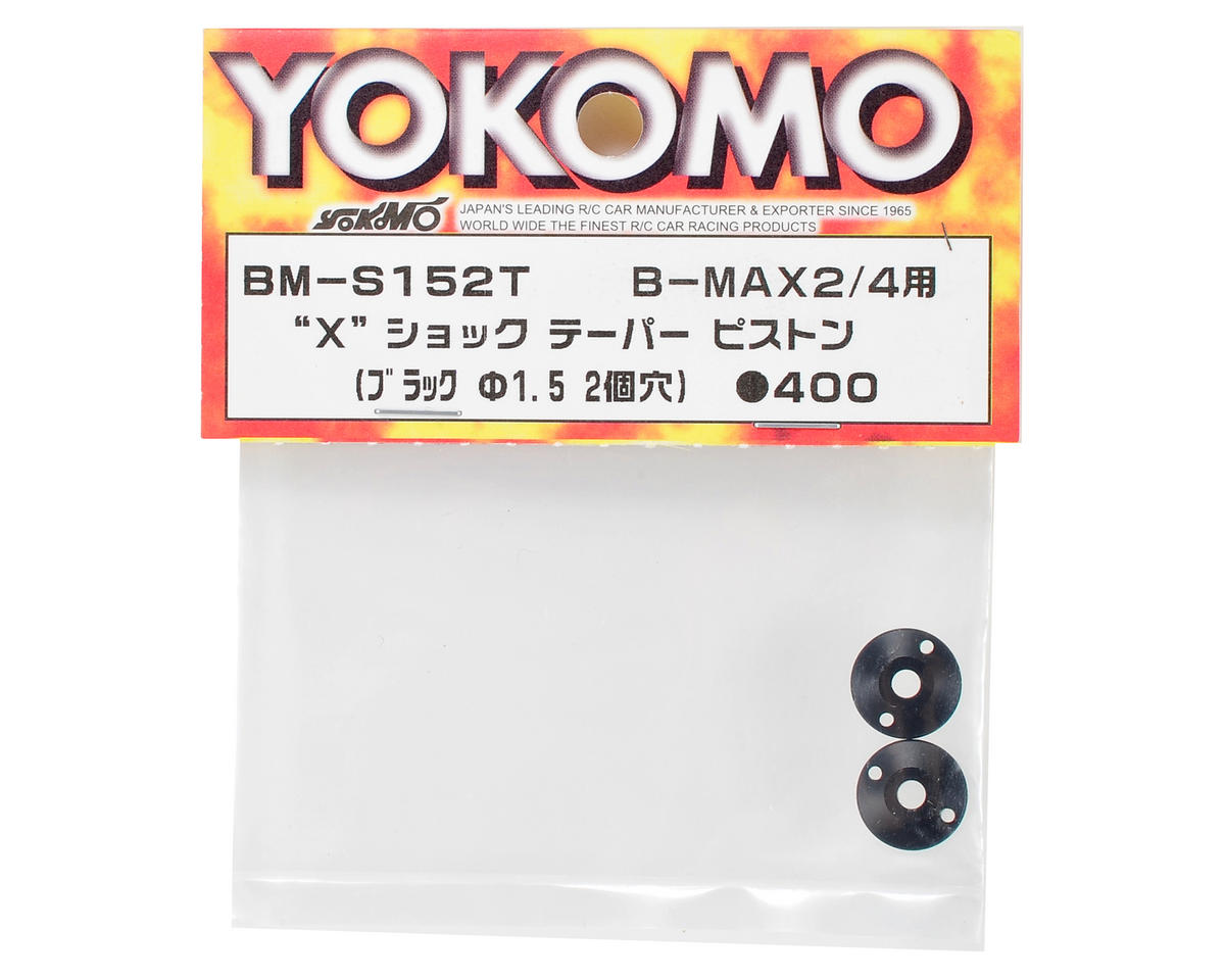 "Yokomo ""X"" Shock Tapered Piston (Black) (2) (2 Hole/1.5mm)"