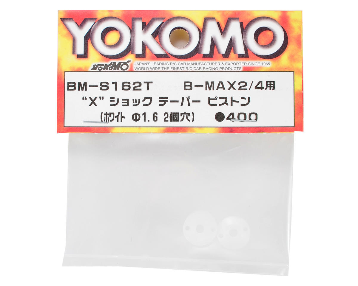 "Yokomo ""X"" Shock Tapered Piston (White) (2) (2 Hole/1.6mm)"