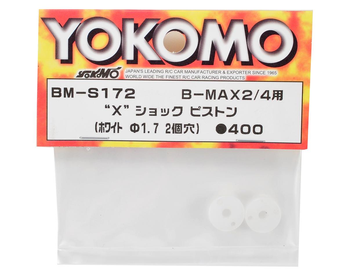 """""""X"""" Shock Piston (White) (2) (2 Hole/1.7mm) by Yokomo"""
