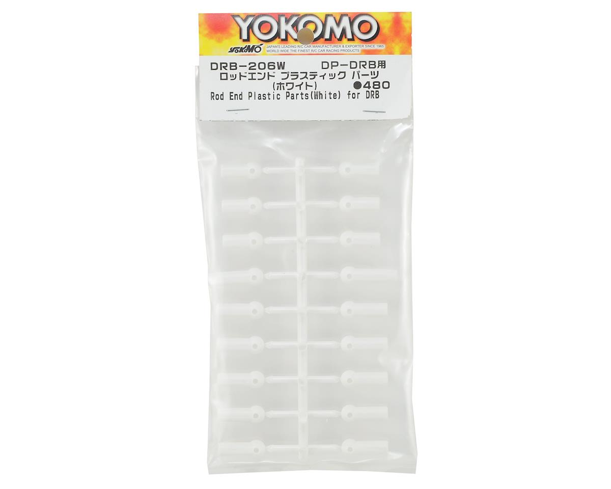 Yokomo DRB Rod End Plastic Parts Set (White)