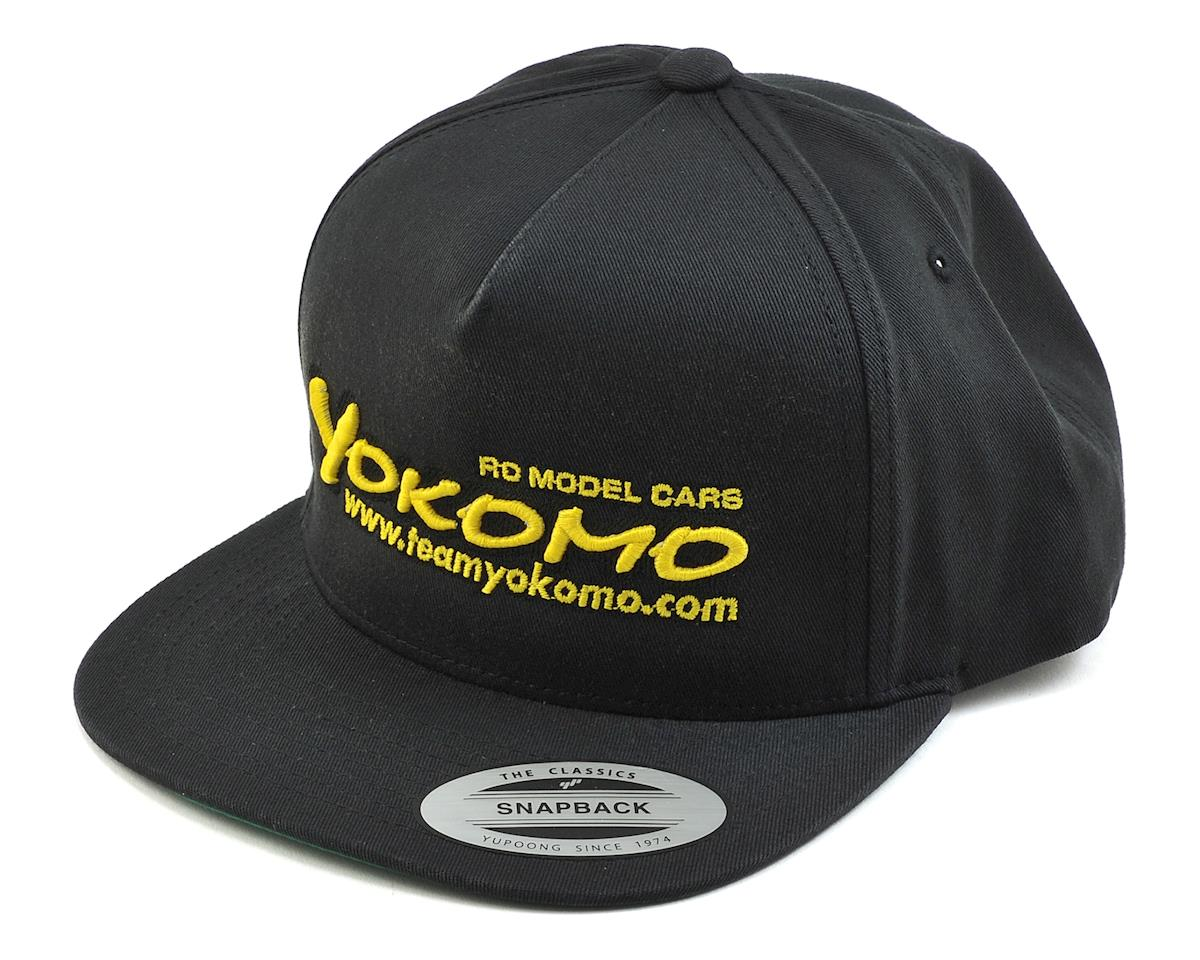 Flat Bill Snap Back Hat (Black) by Yokomo