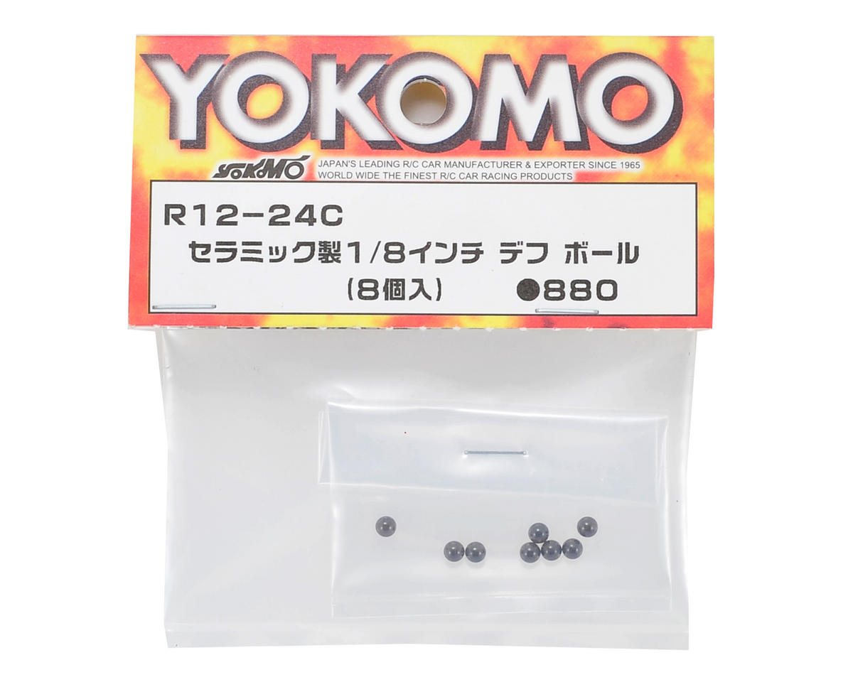 "Yokomo 1/8"" Ceramic Differential Ball (8)"