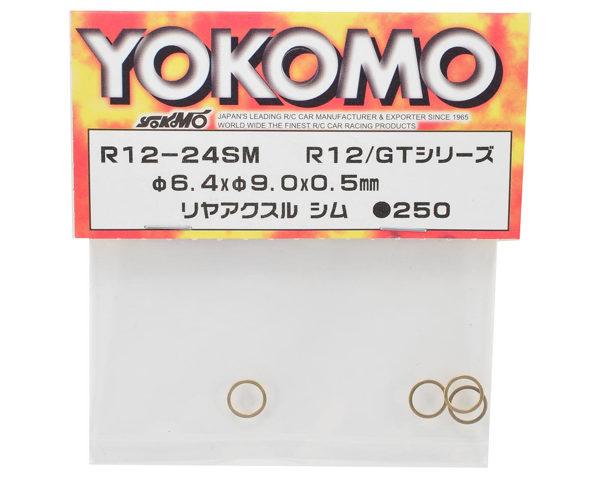 Yokomo 6.4x9.0x0.5mm Rear Axle Shim (4)