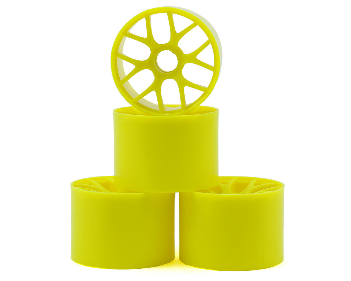 1/12 Pan Car Front Wheel Set (4) (Yellow) by Yokomo