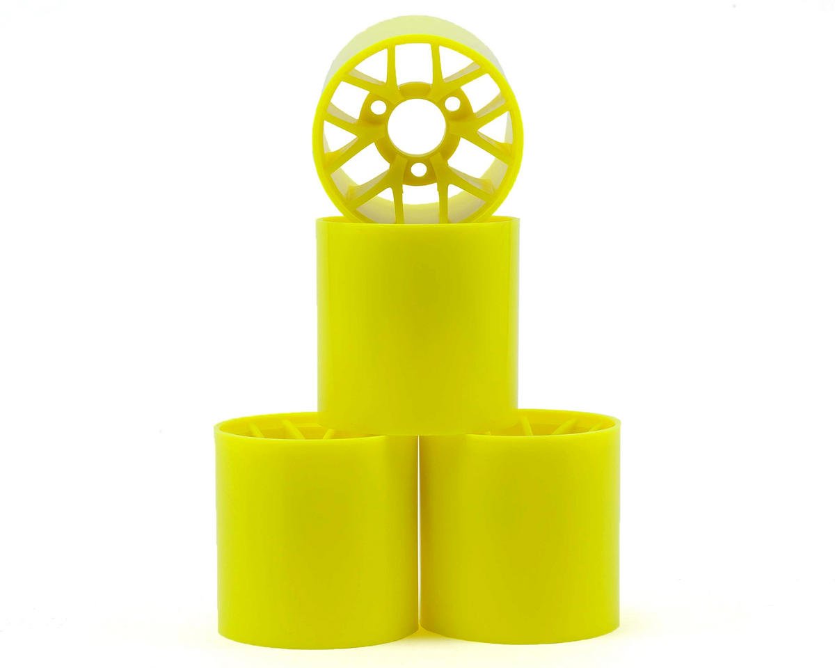 1/12 Pan Car Rear Wheel Set (4) (Yellow) by Yokomo