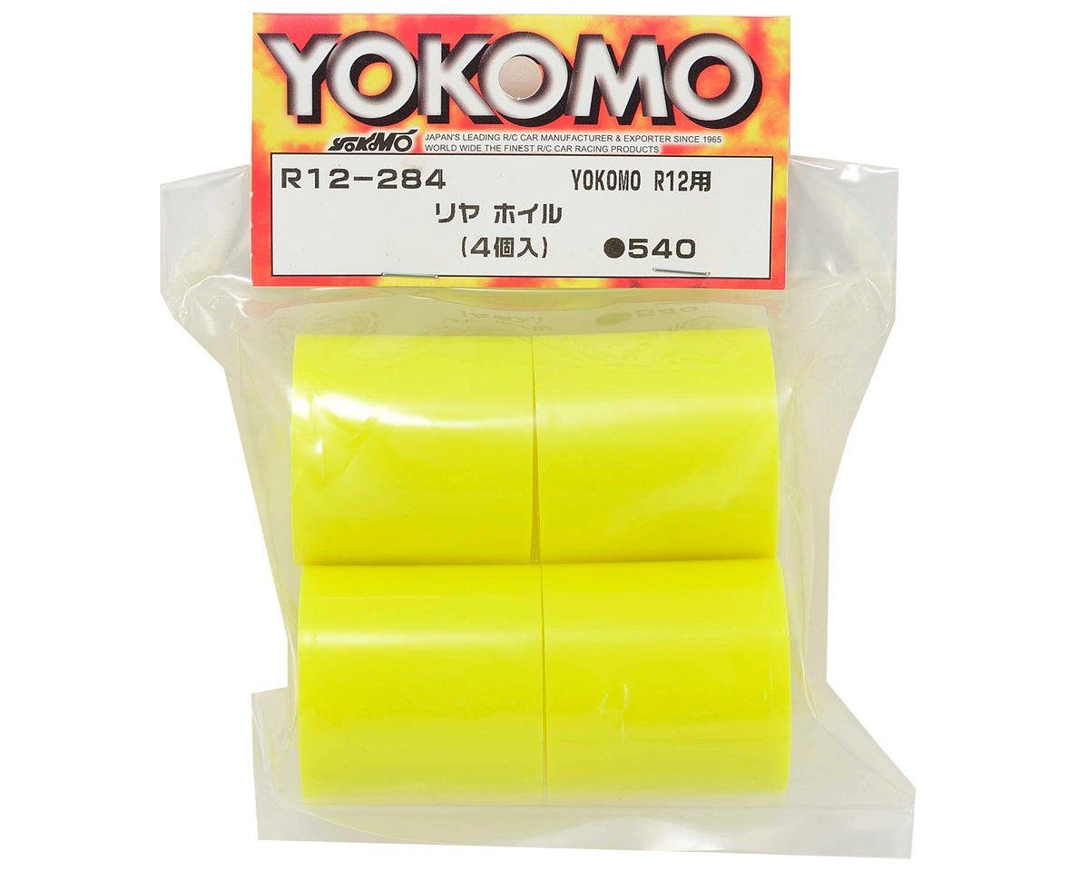 Yokomo 1/12 Pan Car Rear Wheel Set (4) (Yellow)