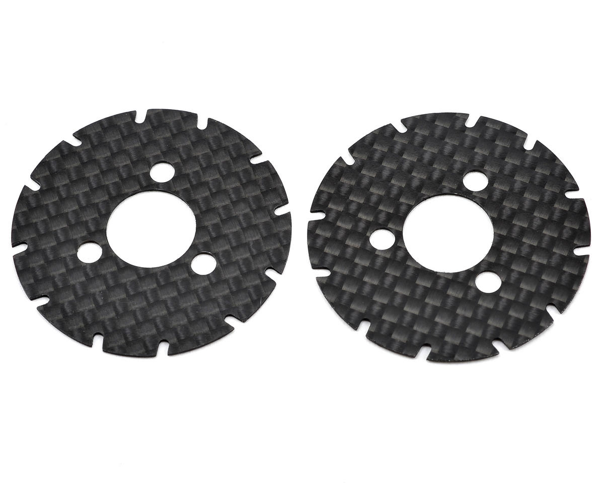 Yokomo R12 Carbon Fiber Rear Wheel Disk Plate Set (2)