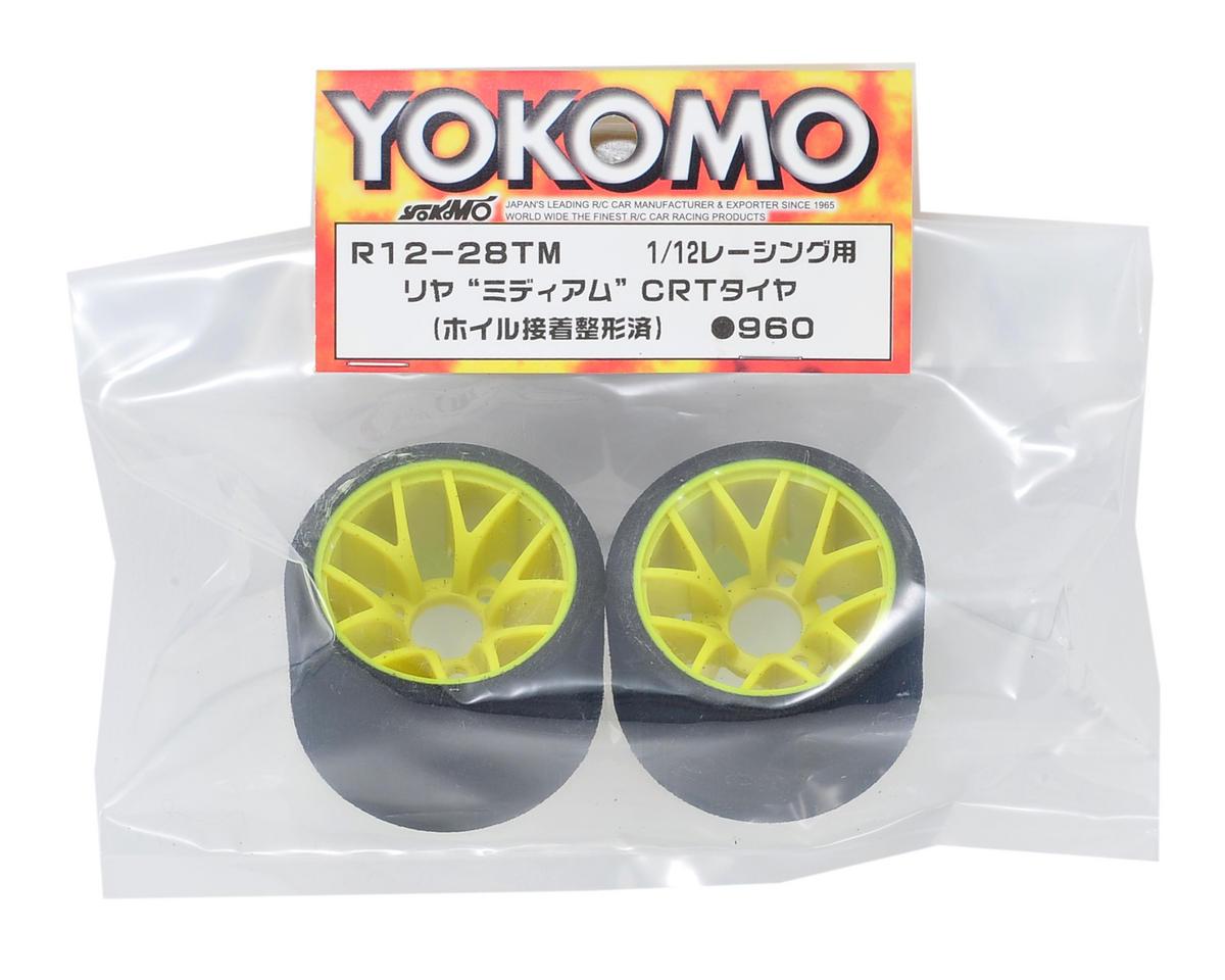 Yokomo CRT 1/12 Foam Rear Tires (2) (Yellow) (Medium)