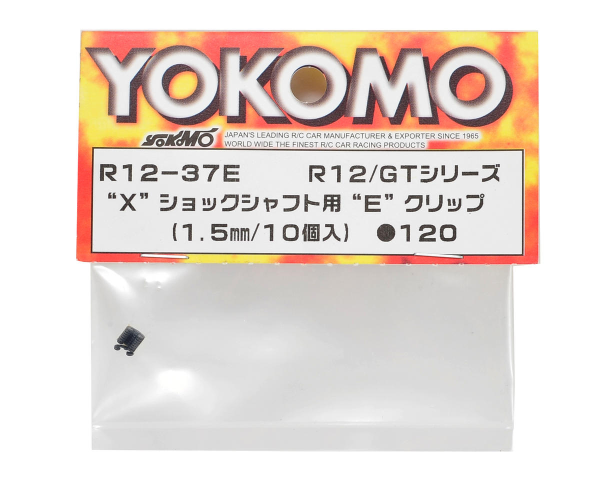 "Yokomo 1.5mm ""X"" Shock Shaft E-Clip Set (10)"