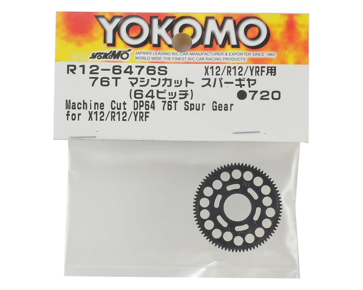 Yokomo R12 64P Machined Spur Gear (76T)
