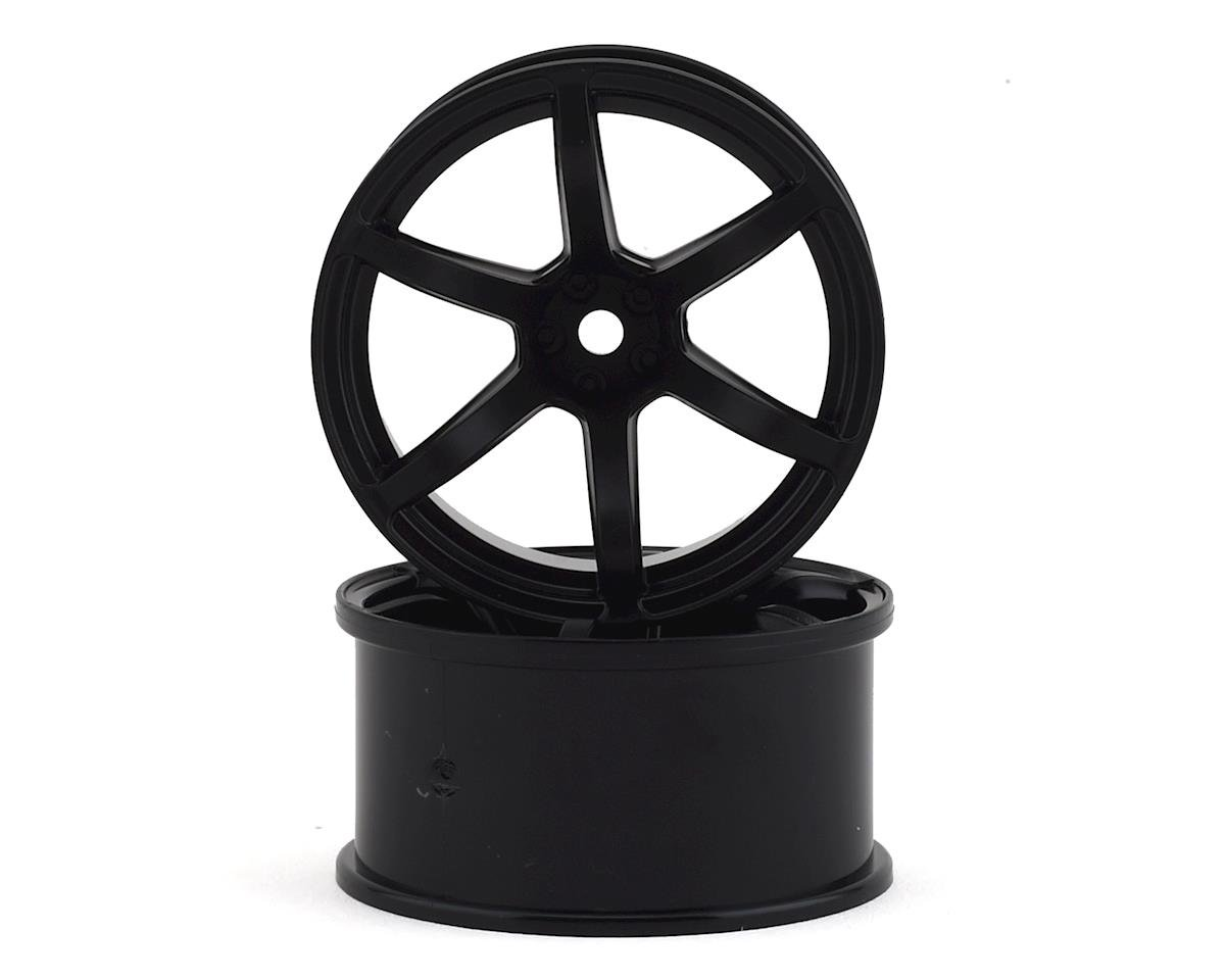 Yokomo 12mm Hex Racing Performer Drift Wheels (Black) (2) (8mm Offset)