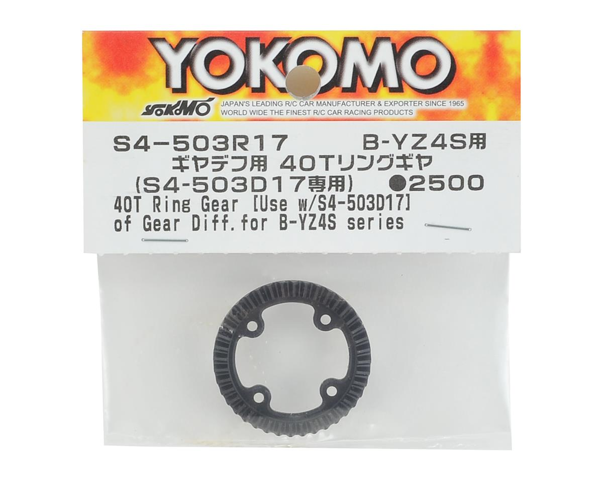 Yokomo Gear Differential 40T Ring Gear (for S4-503D17)