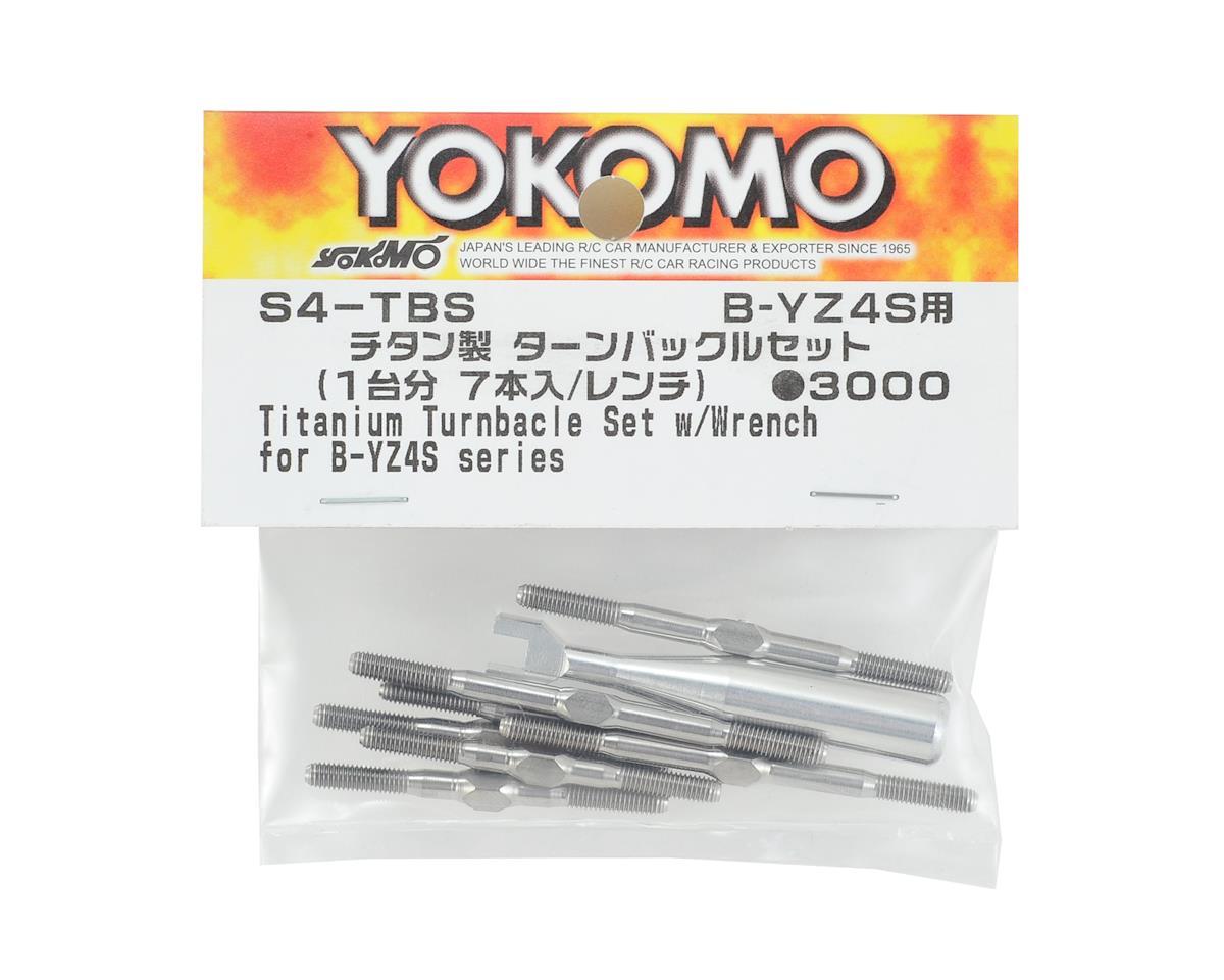 Yokomo YZ-4 SF Titanium Turnbuckle Set w/Wrench