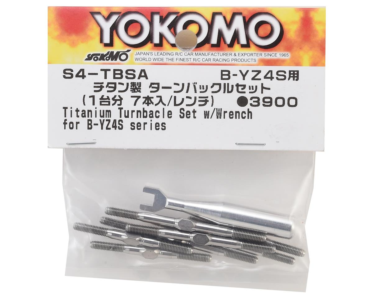 Yokomo YZ-4 SF Titanium Turnbuckle Set w/Wrench