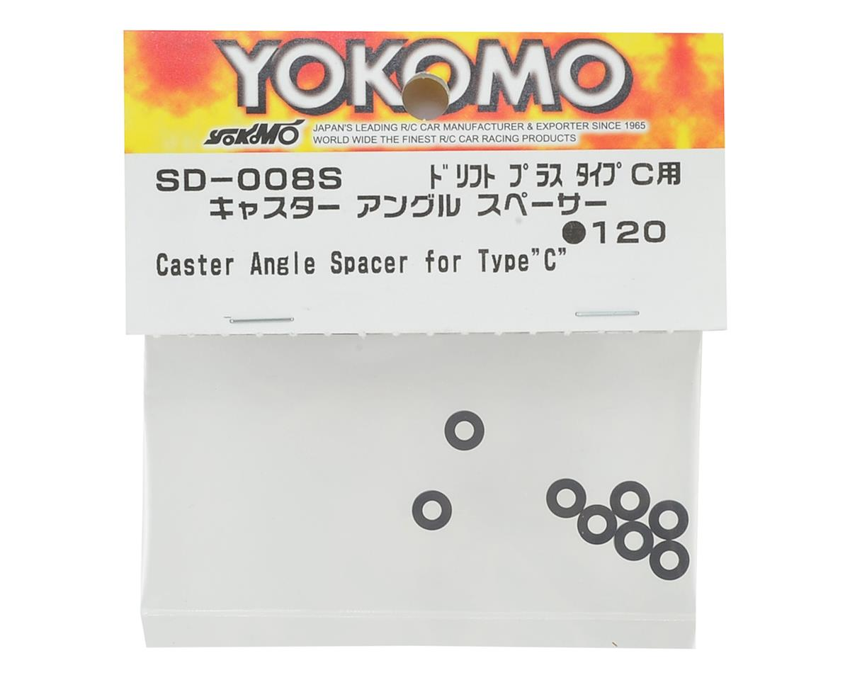 Yokomo Caster Angle Spacer (8) (for Type C)