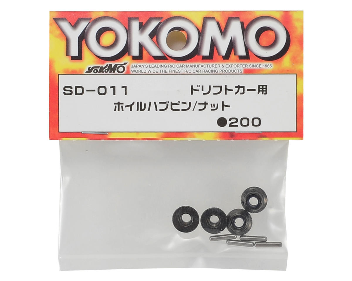 Yokomo Wheel Pin & Nut Set (4)