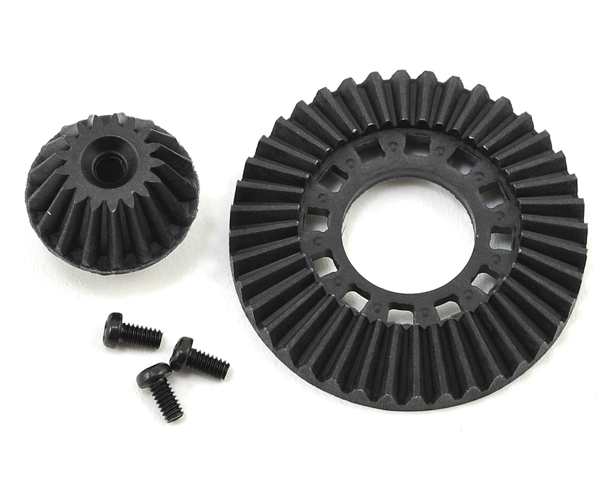 Graphite Ring Gear & Drive Gear (for Front One Way & Solid Axle) by Yokomo